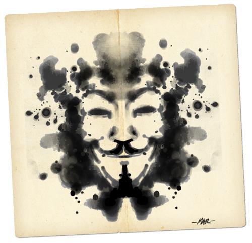 Anonymous Rorschach Ink Blot (Artwork by Mar - sudux.com) - http://cognitivedissidents.wordpress.com