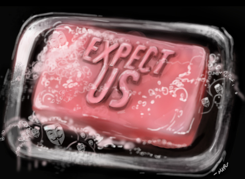 Expect Anonymous Fight Club Soap (Artwork by Mar - sudux.com)