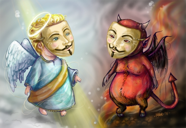 Anonymous Good and Evil (Artwork by Mar - sudux.com)