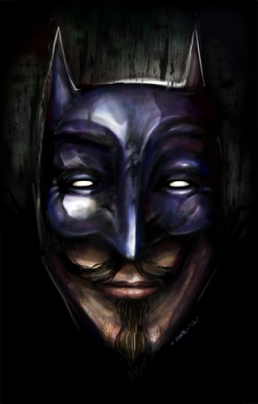 Guy Fawkes Batman (Artwork by Mar - sudux.com)